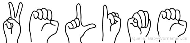 Velime im Fingeralphabet der Deutschen Gebärdensprache