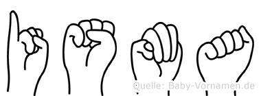Isma in Fingersprache für Gehörlose