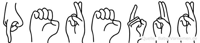 Peredur in Fingersprache für Gehörlose