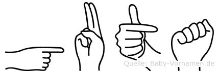 Guta im Fingeralphabet der Deutschen Gebärdensprache
