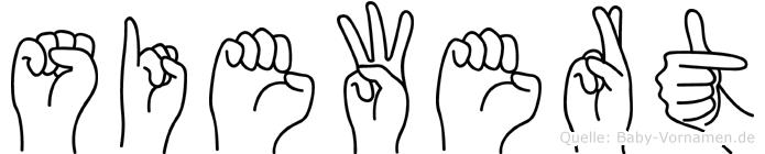 Siewert im Fingeralphabet der Deutschen Gebärdensprache