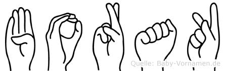 Borak in Fingersprache für Gehörlose