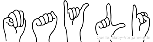 Mayli in Fingersprache für Gehörlose