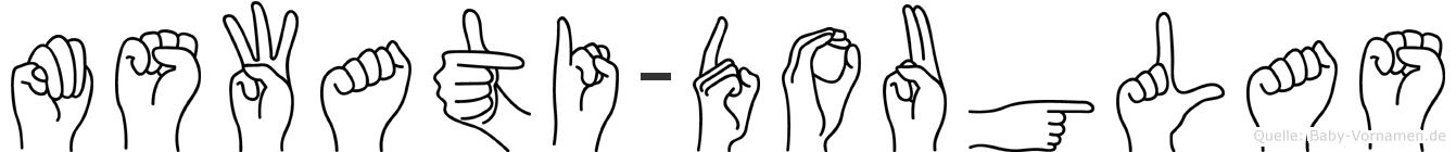 Mswati-Douglas im Fingeralphabet der Deutschen Gebärdensprache