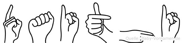 Daithi in Fingersprache für Gehörlose