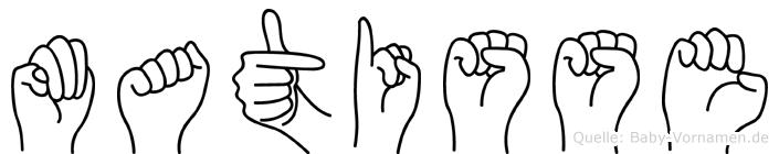 Matisse im Fingeralphabet der Deutschen Gebärdensprache