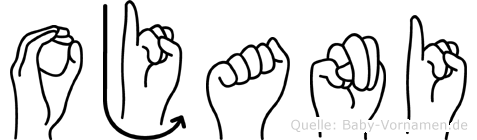 Ojani im Fingeralphabet der Deutschen Gebärdensprache
