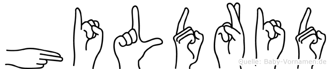 Hildrid in Fingersprache für Gehörlose