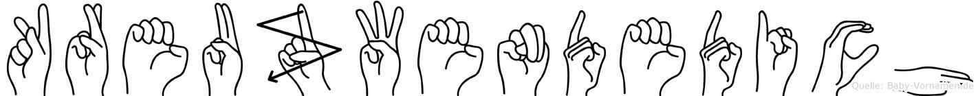 Kreuzwendedich in Fingersprache für Gehörlose