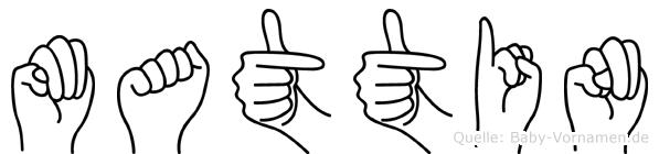 Mattin in Fingersprache für Gehörlose