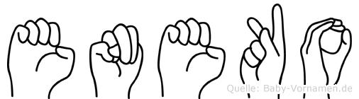 Eneko im Fingeralphabet der Deutschen Gebärdensprache