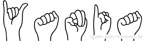 Yania in Fingersprache für Gehörlose