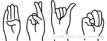 Bryn im Fingeralphabet der Deutschen Gebärdensprache
