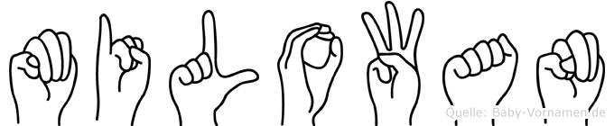 Milowan in Fingersprache für Gehörlose