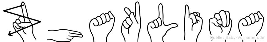 Zhaklina in Fingersprache für Gehörlose