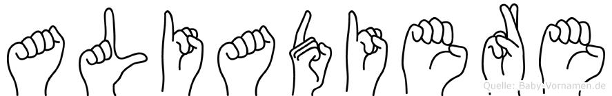 Aliadiere in Fingersprache für Gehörlose
