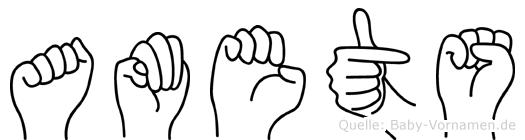 Amets im Fingeralphabet der Deutschen Gebärdensprache