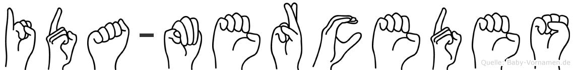 Ida-Mercedes im Fingeralphabet der Deutschen Gebärdensprache