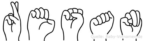 Resan im Fingeralphabet der Deutschen Gebärdensprache