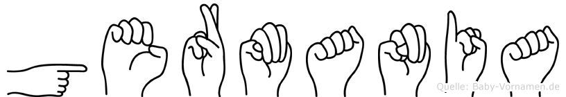 Germania in Fingersprache für Gehörlose