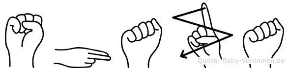 Shaza in Fingersprache für Gehörlose