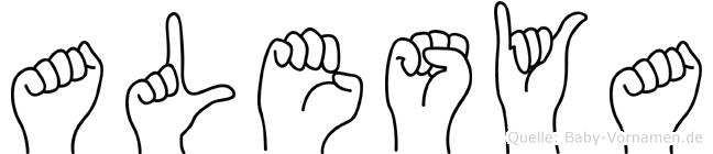 Alesya in Fingersprache für Gehörlose