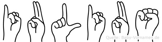 Iulius in Fingersprache für Gehörlose