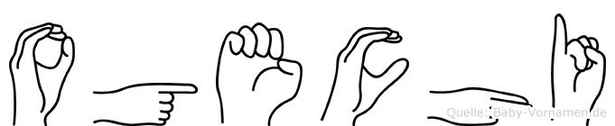 Ogechi im Fingeralphabet der Deutschen Gebärdensprache