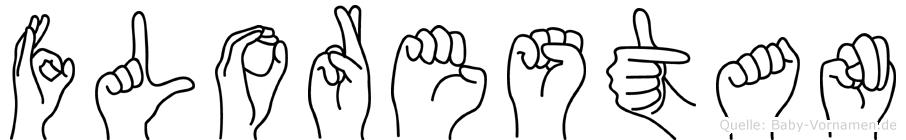 Florestan im Fingeralphabet der Deutschen Gebärdensprache