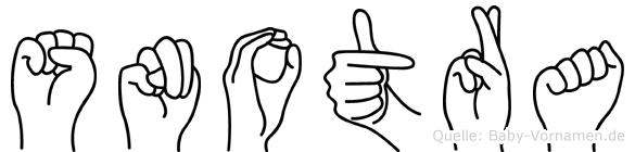 Snotra im Fingeralphabet der Deutschen Gebärdensprache