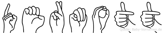 Dermott im Fingeralphabet der Deutschen Gebärdensprache