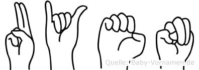 Uyen im Fingeralphabet der Deutschen Gebärdensprache