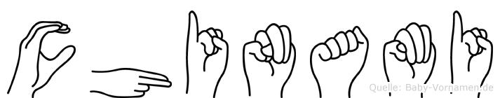 Chinami in Fingersprache für Gehörlose