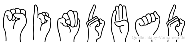 Sindbad im Fingeralphabet der Deutschen Gebärdensprache
