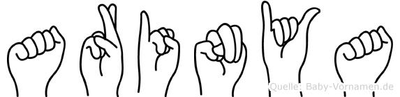 Arinya in Fingersprache für Gehörlose
