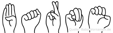 Barne im Fingeralphabet der Deutschen Gebärdensprache