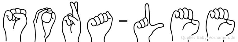 Sora-Lee im Fingeralphabet der Deutschen Gebärdensprache