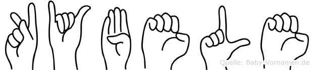 Kybele im Fingeralphabet der Deutschen Gebärdensprache