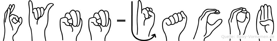 Fynn-Jacob im Fingeralphabet der Deutschen Gebärdensprache