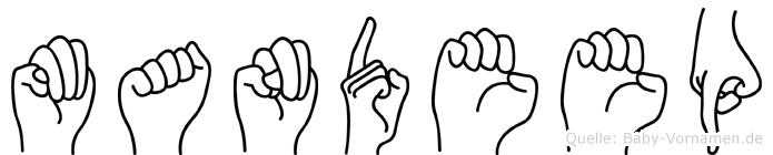 Mandeep in Fingersprache für Gehörlose