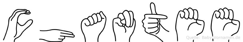 Chantee in Fingersprache für Gehörlose