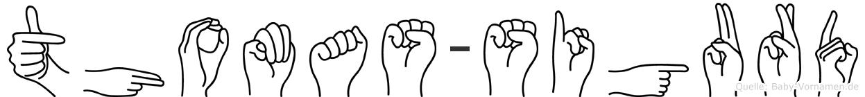 Thomas-Sigurd im Fingeralphabet der Deutschen Gebärdensprache
