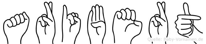 Aribert in Fingersprache für Gehörlose