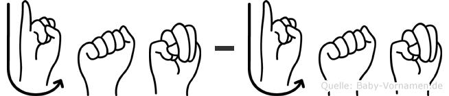 Jan-Jan im Fingeralphabet der Deutschen Gebärdensprache