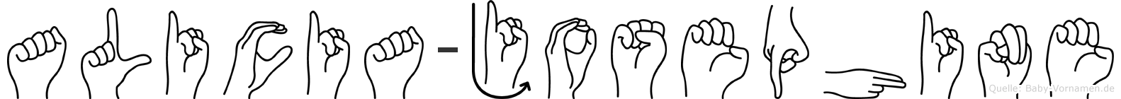 Alicia-Josephine im Fingeralphabet der Deutschen Gebärdensprache