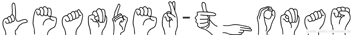 Leander-Thomas im Fingeralphabet der Deutschen Gebärdensprache