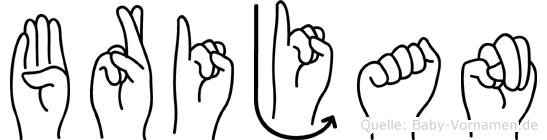 Brijan im Fingeralphabet der Deutschen Gebärdensprache