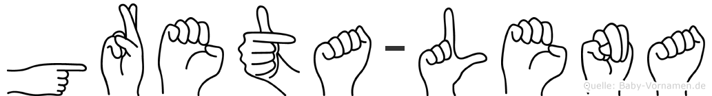 Greta-Lena im Fingeralphabet der Deutschen Gebärdensprache