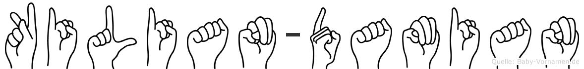 Kilian-Damian im Fingeralphabet der Deutschen Gebärdensprache