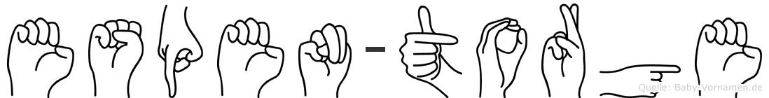 Espen-Torge im Fingeralphabet der Deutschen Gebärdensprache